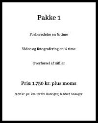 Dronefotografering priser pakke 1