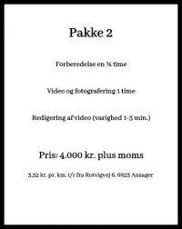 Dronefotografering priser pakke 2
