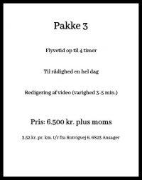 Dronefotografering priser pakke 3